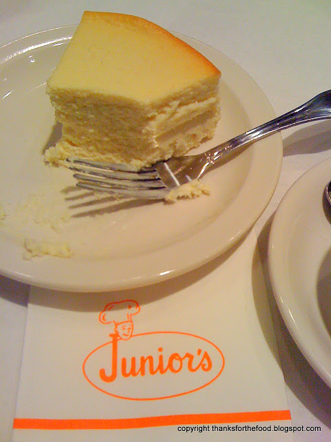 Cheesecake at Junior's in Brooklyn