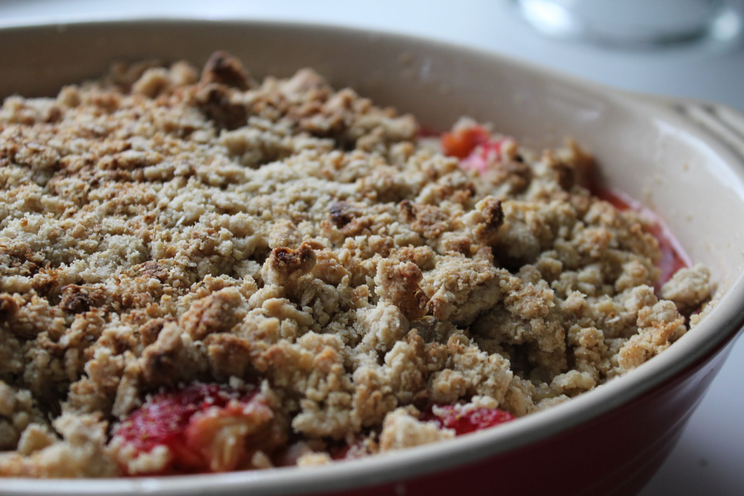 Blog Series: Norwegian Ingredient Spotlight: Gluten Free Strawberry and Rhubarb Crumble
