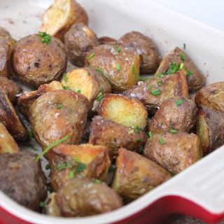 Roast Potatoes with Lemon and Chives